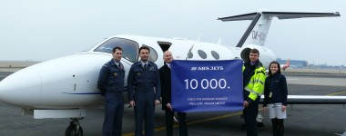 810 ABS Jets handled 10.000 flights at Prague