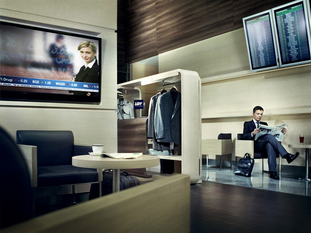 Executive lounges increasingly popular at chopin airport for Best airport lounge program