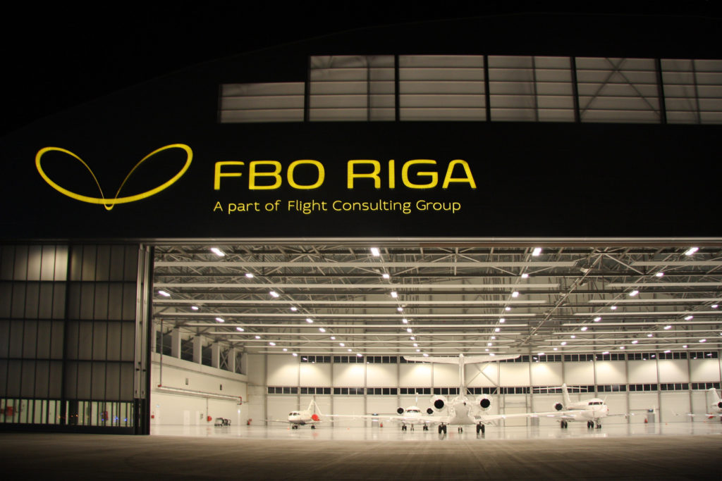 17. Hangar with airplanes inside