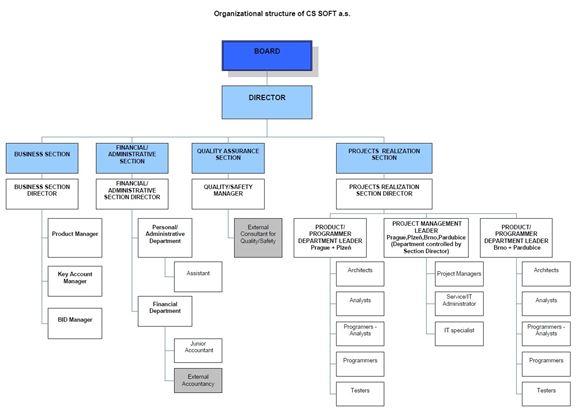 new organizational structure of cs soft